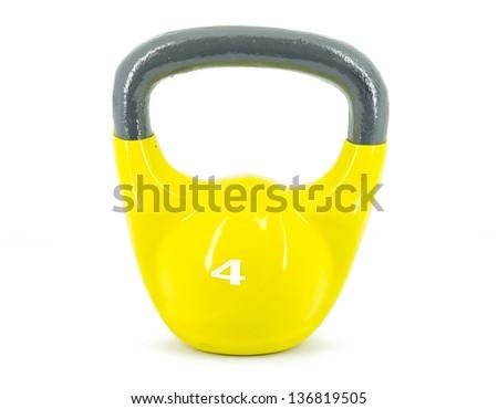 Yellow kettlebell
