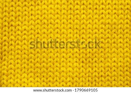 Yellow knitting wool texture background Stock photo ©