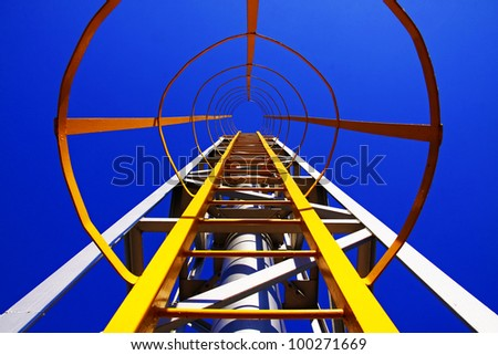 Yellow Ladder :Ladder up to the top of Vent Stack