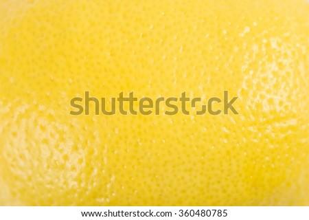 Yellow Lemon Peel Texture Macro