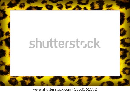 Yellow Leopard Skin Pattern Picture Frame