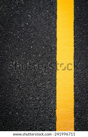 yellow line on the new road #241996711