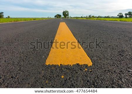Yellow line road Stock fotó ©