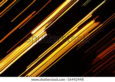 Yellow lines on black background