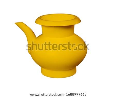 Yellow, lota, vessel, bodna, watering pot, garden water pot, Watering can, Watering can isolated, Watering flowers with a water can in garden, water can, plastic water, 3D rendering,