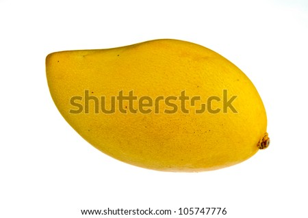 Yellow mango isolated on a white background