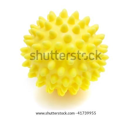 yellow massage ball