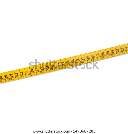 yellow measuring tape for measurements in centimeters