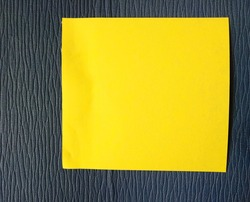 Yellow memo paper on the desk