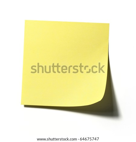 Yellow memo stick