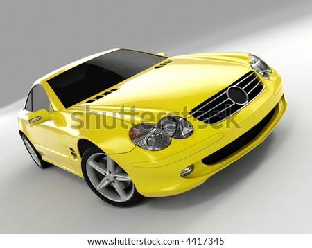 Yellow Mercedes SL 500