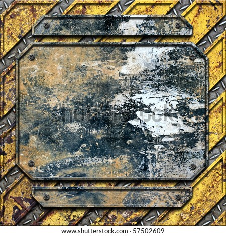 yellow metal construction background