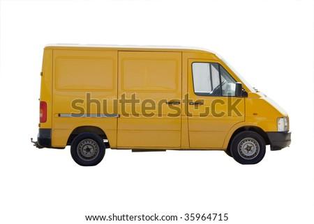 yellow micro van gazelle isolated