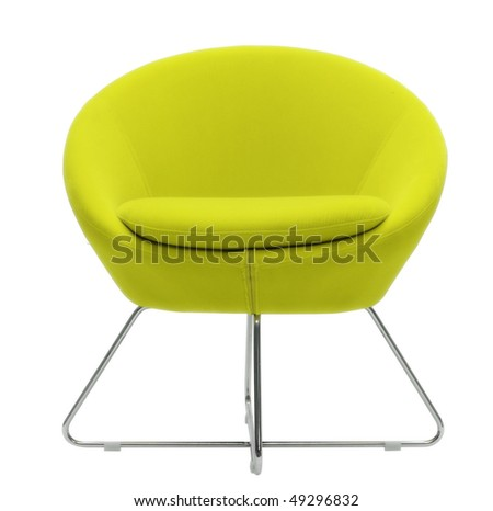 yellow modern chair