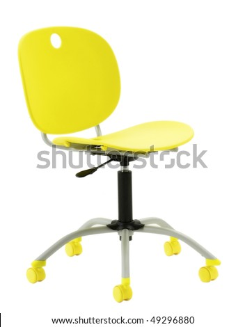 Yellow Modern Office Chair Stock Photo 49296880 : Shutterstock