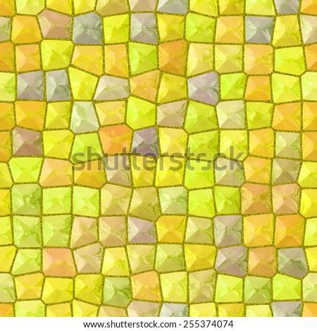 Yellow mosaic texture generated #255374074