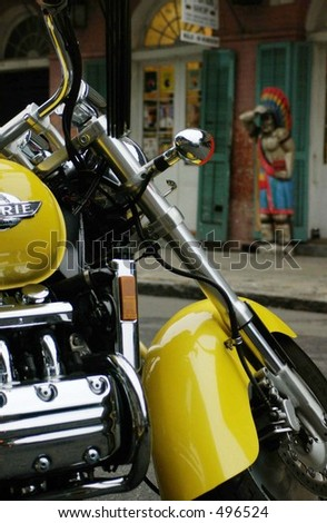 Yellow Motorcycle