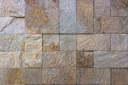yellow natural stone facade, wall tiles texture