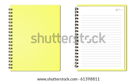 Yellow notebook (blank paper)