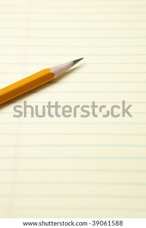 Yellow Notepad with Pencil