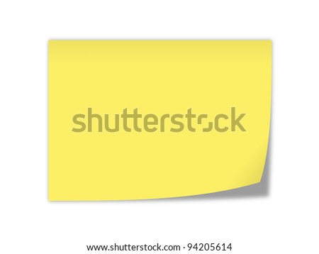 yellow notepaper
