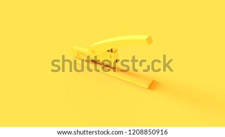 Yellow Office Stapler 3d illustration 3d render