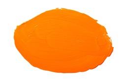 Yellow orange abstract aquarel watercolor spot. Colorful yellow acrylic watercolor brush strokes.