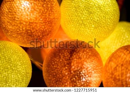 Yellow orange glowing balls view. Orange glowing balls background. Yellow glowing balls background. Yellow orange glowing balls #1227715951