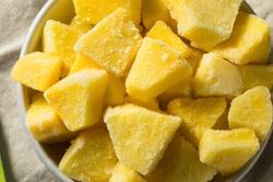 Yellow Organic Frozen Pineapple Slices to Eat