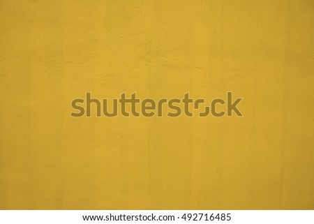 Yellow paint wall background or texture #492716485