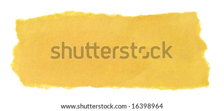 Yellow Paper Background Yellow Paper Scrap Isolated on