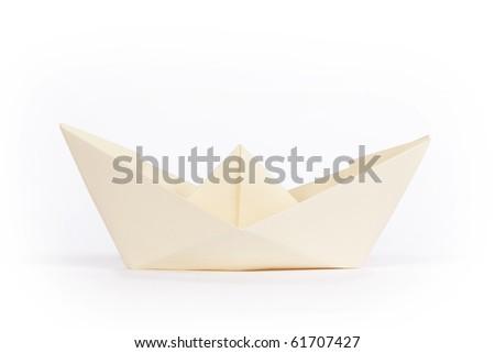 yellow paper ship