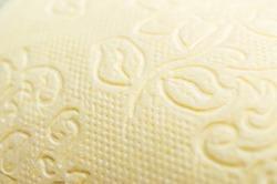 Yellow paper towel (toilet paper) texture.