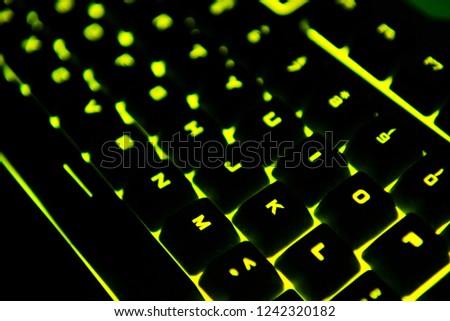 yellow pc keyboard #1242320182