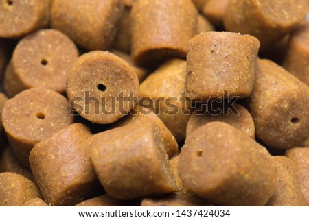 Yellow pellets for catch fish, carp bait. #1437424034