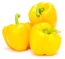 Yellow pepper isolated