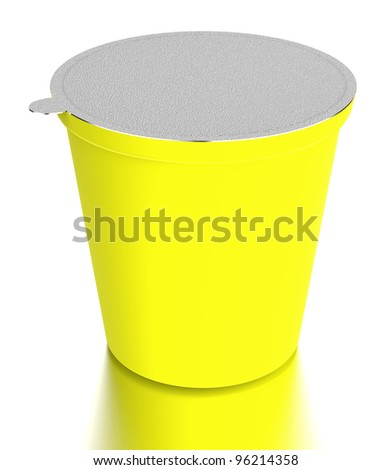 yellow  plastic food containe