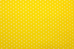 yellow polka dot fabric