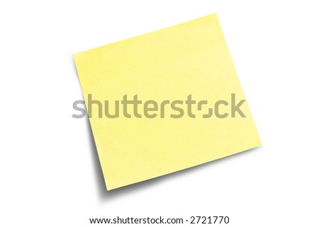 Yellow post-it note waiting for your message