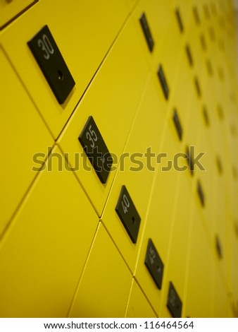 yellow private mail boxes at a post office in Croatia