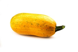 Yellow pumpkin isolated on white background. Harvest concept. Consumer product.