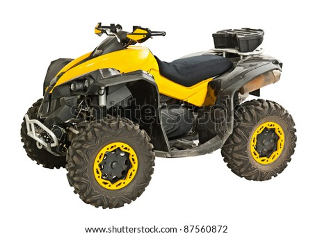 Yellow quadbike isolated on white Stock photo ©