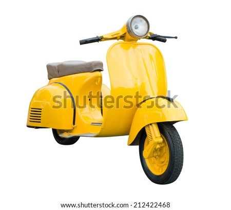 yellow retro motorcycle...