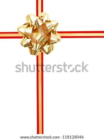 Yellow ribbon over white pape Foto stock ©