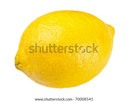 yellow ripe lemon over the white background (clipping path)
