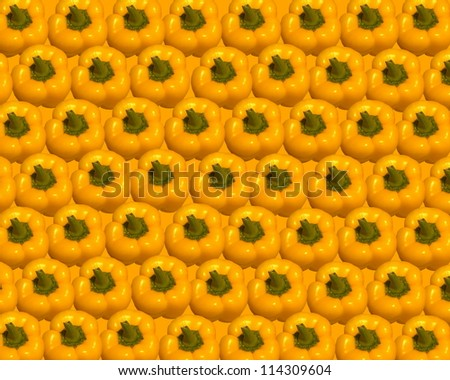 Yellow ripe paprika background