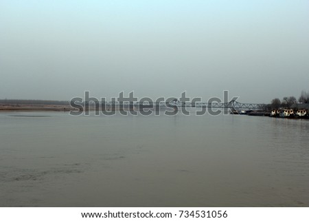 Yellow River in Jinan, Downstream of Yellow River, Shandong, China #734531056