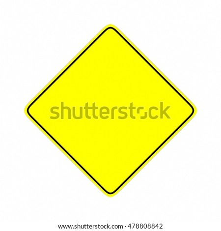 yellow road sign 3D rendering #478808842