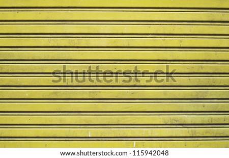 yellow roller door texture background