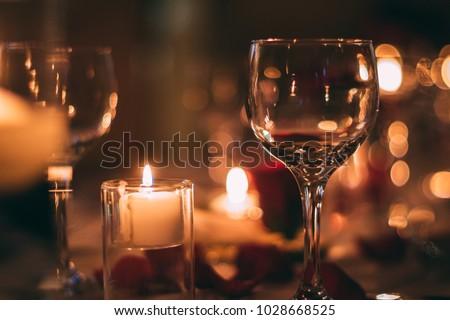 Yellow Romantic Wine Glass